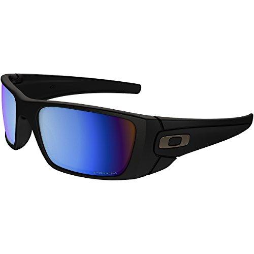 Oakley Men's OO9096 Fuel Cell Rectangular Sunglasses, Matte Black/Prizm Deep H2O Polarized, 60 mm