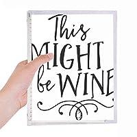 このワインは、レースのデザインであるかもしれません 硬質プラスチックルーズリーフノートノート