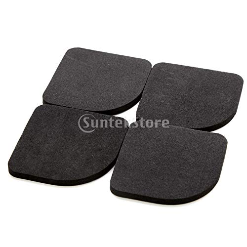 Baoblaze 4er Set Vibrationsdämpfer Antivibrationsmatte Dämpfung Matte für Waschmaschine oder Trockner