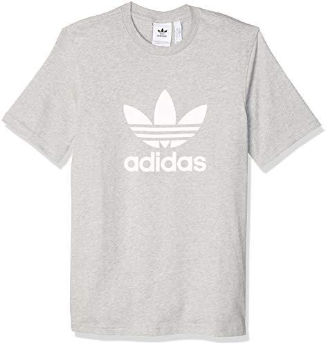 Adidas Mens Trefoil T Shirt Medium Grey Heather Large