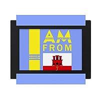 ジブラルタルから来ました デスクトップフォトフレーム画像ブラックは、芸術絵画7 x 9インチ
