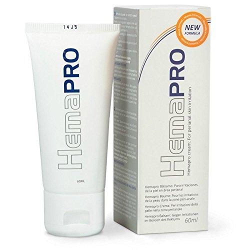 Hemapro - Crema per emorroidi esterne - Cura e rimedio per emorroidi - 60millilitri