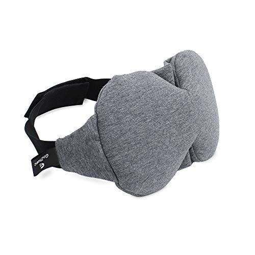 Schlafmaske Damen und Herren, Gozheec Augenmaske für Reisen Weich und Bequem, Baumwolle Schlafbrille zum Schlafen mit Verstellbarem Gurt Ohrstöpsel