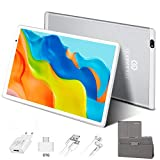 Tablet in Offerta Android 10.0 Certificato Google GMS Tablet PC 4GB RAM 64GB/128GB Espandibili Tablet 10 Pollici con Wifi Offerte 8500mAh Dual Fotocamera Tablet Android Bluetooth OTG(Argento)