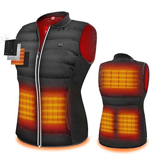 ZLTFashion Heated Vest, USB Charging Electric Heated Jacket Winter Clothes for Women Outdoor Motorcycle Riding Golf Hunting, Washable and Lightweight