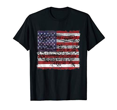 Staaten USA Vereinige Staaten Landkarte Bundesstaaten Karte T-Shirt