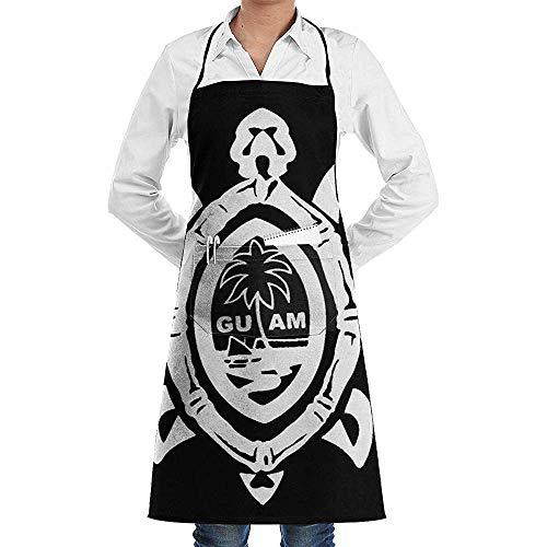Wthesunshin Guam Seal in een stamschildpad kok schort grappige Heavy-Duty schorten voor grillen, BBQ, bakken of koken