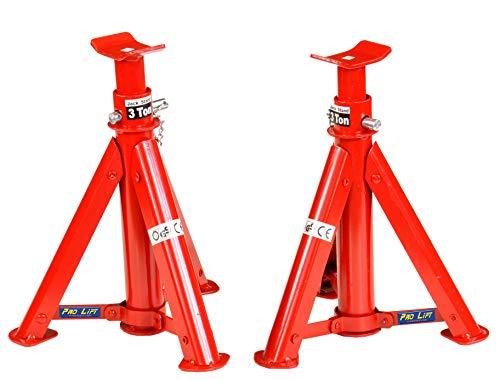 Pro-Lift-Werkzeuge Unterstellbock 2 x 3t Set Abstellböcke Wagenheber Abstützbock Höhe 290 mm - 405 mm KFZ PKW