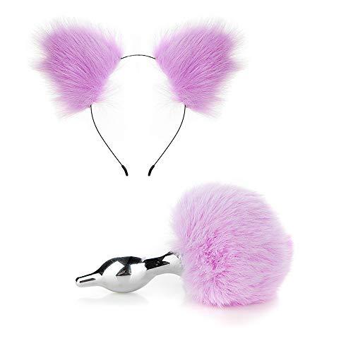 Chat rose serre-tête queue plug jeu de rôle amant cadeau