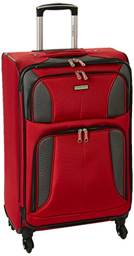 Samsonite Aspire Xlite Softside Expandable Luggage with Spinner Wheels, Red