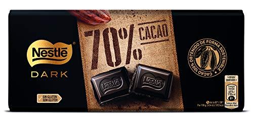 Nestlé Extrafino Tableta de Chocolate Negro 70% Cacao, 120g