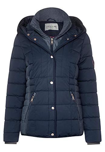CECIL Damen 201367 Jacke, Mehrfarbig (deep blue 10128), Small (Herstellergröße:S)
