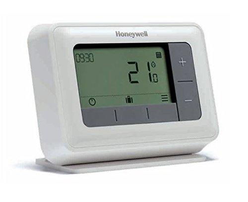 Honeywell Y4H910RF4003 T4R - Termostato programable inalámbrico (7 días, 230 V), Color Blanco