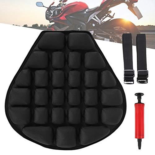 Cuscino Aria per Moto Cuscino per Sella Moto 3D Antiurto Motociclo Cuscino Sedile Gonfiabile Antiscivolo per Selle Elasticità Relax da Viaggio