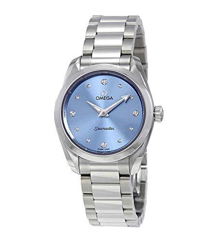 Omega Seamaster Aqua Terra Blue Diamond Dial Ladies Watch 220.10.28.60.53.001