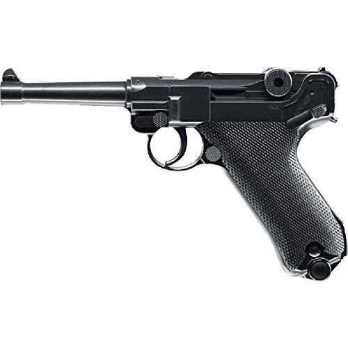 LEGENDS Luger P08 Co2 Black Metal Airsoft (0.5 Joule)
