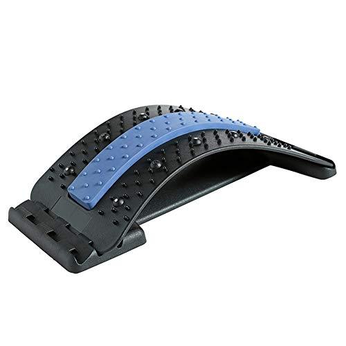YEKKU Estirador de espalda masajeador de postura estirador lumbar estirador de espalda ortopédico con puntos de acupresión corrector de postura, dispositivo de estiramiento físico