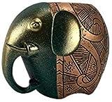 DNSJB ornaments Pequeño soporte para bolígrafos de elefante a la moda, bonita caja de almacenamiento, decoración de escritorio de oficina, personalidad, práctico barril de almacenamiento (color: azul)