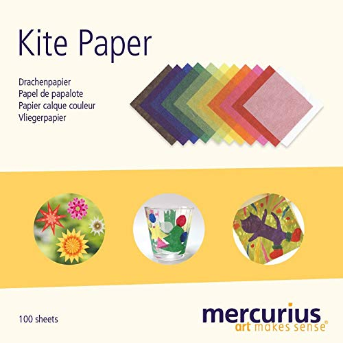Mercurius AMS Kite Paper 100 Sheets 11 Colors 6.25' Squares
