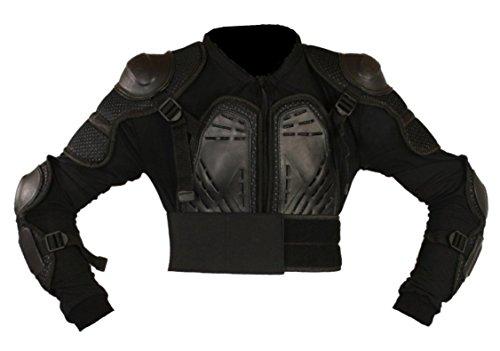Protectwear PJ2-XL Protektorenjacke 2 für Motorrad / Motocross, Downhill/BMX, Snowboard und weitere Sportarten, Größe : XL, Schwarz