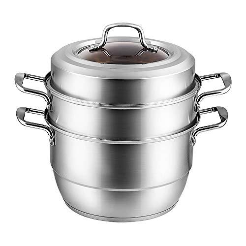 vaporera Acero inoxidable Vapor, Cocina de gas del hogar vapor al vapor bollo al vapor sopa de olla integrado Multi Capa, obtener una variedad de delicioso, uniformemente climatizada, duradero