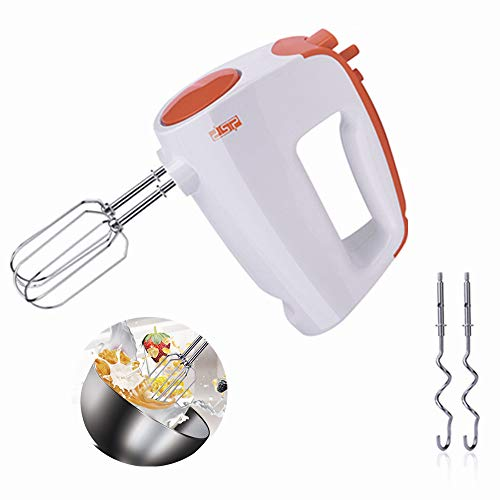 Elikliv Hand Whisk Baking Hand Mixer 6 Speed Adjustable Food Mixer Hand Whisk Electric Whisk Turbo Button for Kitchen Jam Cake Stir Egg Cream Food