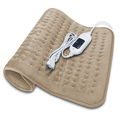 ELOVE Electric Heating Pad for Pain Relief – Orthopaedic Heat Therapy with Fast Heating Technology Heating belt for Joints, Muscle, Shoulder, Abdominal, Knee, Neck and Back Pain Relief - Beige