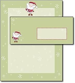 Merry Christmas Santa Holiday Letterhead & Envelopes - 40 Sets