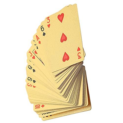 Juego de póquer, naipes de plástico duradero 55 piezas para juego de póquer para espectáculo de magia