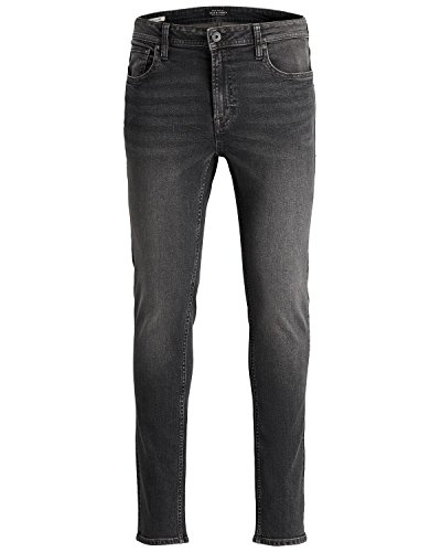 JACK & JONES Ubbo Herren Jeans Hose Denim Stretch Slim Fit, Größe:W32/32, Farbe:Grey Denim