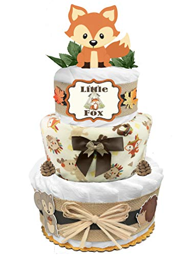Fox 3-Tier Diaper Cake - Baby...