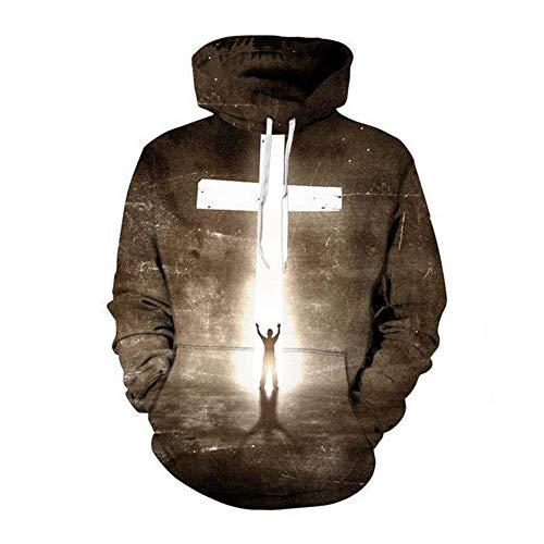 Europäische und amerikanische 3D-Hoodie Herrenfrauen-Damen-Lässige Blitz-Sweatshirt Cross Print Hoodie Hip Hop Herbst Streetwear Mit Kapuze Jacke Pullover J1029 (Farbe: 2, Größe: xxx-groß)-XX-Large,2
