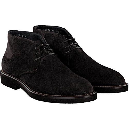BOSS Hugo Boot, Eden in pelle scamosciata, 50374129, Marrone (marrone scuro), 44 EU