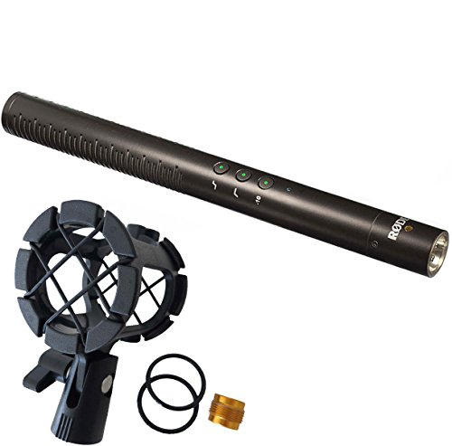 Rode NTG de 4 + Plus Micrófono direccional Keepdrum pcmh1 Soporte de micrófono