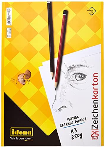 Idena 10385 - Idena Zeichenkarton , A3, 25 Bogen, 250g/m²