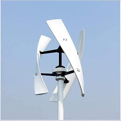 ZJHCC 300W 12V 24V Spiral Wind Turbine Generator Red/White VAWT Vertical Axis Residential Energy