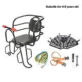 LUKUCEA Asiento para NiñOs En La Parte Trasero de La Bicicleta Pedal Delantero Asiento Infantil Coche eléctrico Asiento de bebé con apoyabrazos barandilla y Pedal,A