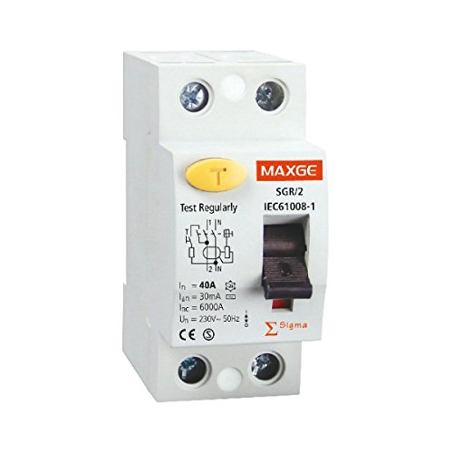 LEDKIA LIGHTING Interruptor Diferencial Industrial MAXGE 2P-30mA-Clase A-10kA Superinmunizado 40 A2