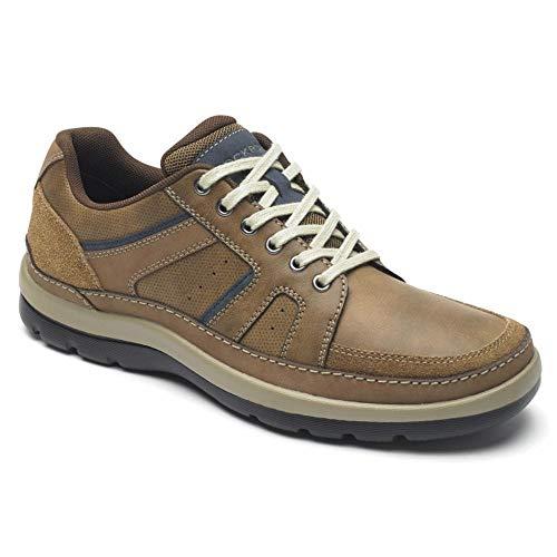 Rockport Men's Get Your Kicks Mudguard Blucher Shoe, tan embossed, 7.5 W US
