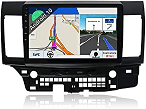 Android 10 Double Din Car Stereo for Mitsubishi Lancer 2010-2016 GPS Navigation Head Unit   2G+32G  Free Backup Camera & Canbus   10.1 Inch HD Screen   Support Steering Wheel Bluetooth Google WiFi 4G