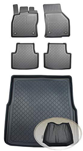 ZentimeX Z393478 Set Kofferraumwanne Gummifußmatten + Klettnetztasche (Laderaumwanne, Kofferraummatte, Automatten)