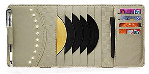 PANDA SUPERSTORE Auto Accessories DVD/CD Storage DVD Wallet Car Auto Visor Organizer Holder Case
