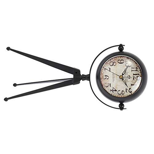 GARNECK Reloj Despertador Analógico Retro Antiguo con Tríp