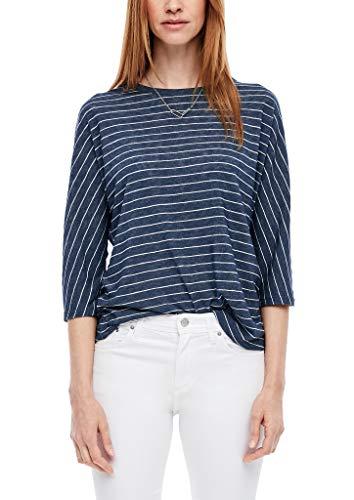 s.Oliver Damen T-Shirt, 58G2 Dark Steel Blue st, 42