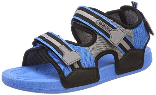 Geox J Ultrak A, Sandali Punta Aperta Bambino, Blu (Lt Blue/Black), 28 EU