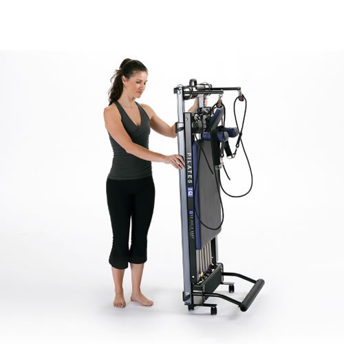 balanced body Pilates IQ Reformer with Library Wheels, Portable, Home Studio Equipment, Home-Gym Exercise Machine