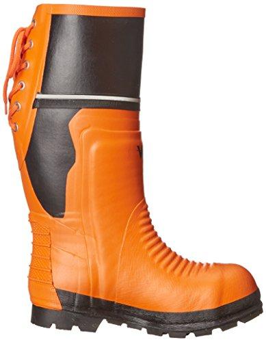 Viking Footwear Class 2 Chainsaw Boot,Orange/Black,11 M US