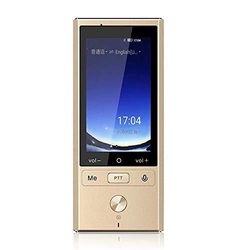 GG-home Sprachübersetzer mit 75 Sprachen, Intelligentes Sprachübersetzergerät mit 3,0 -Zoll-HD-Touchscreen für Reisen, um im Ausland zu Studieren,Gold