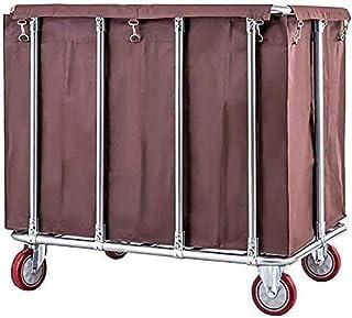 Panier à linge à roulettes silencieuses, panier à linge avec sacs amovibles, support en acier inoxydable 400 l