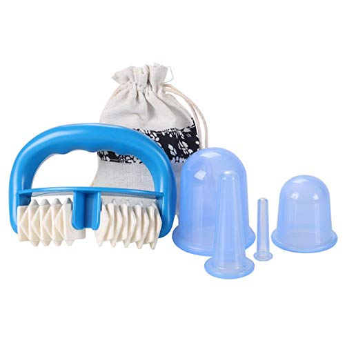 Eruditter Body Roller Massager Domestic Whole Massager Cupping Set Gamba Gamba Viso umidità Assorbimento Disintossicazione Vacuum Cupping Device Silicone Body Cup